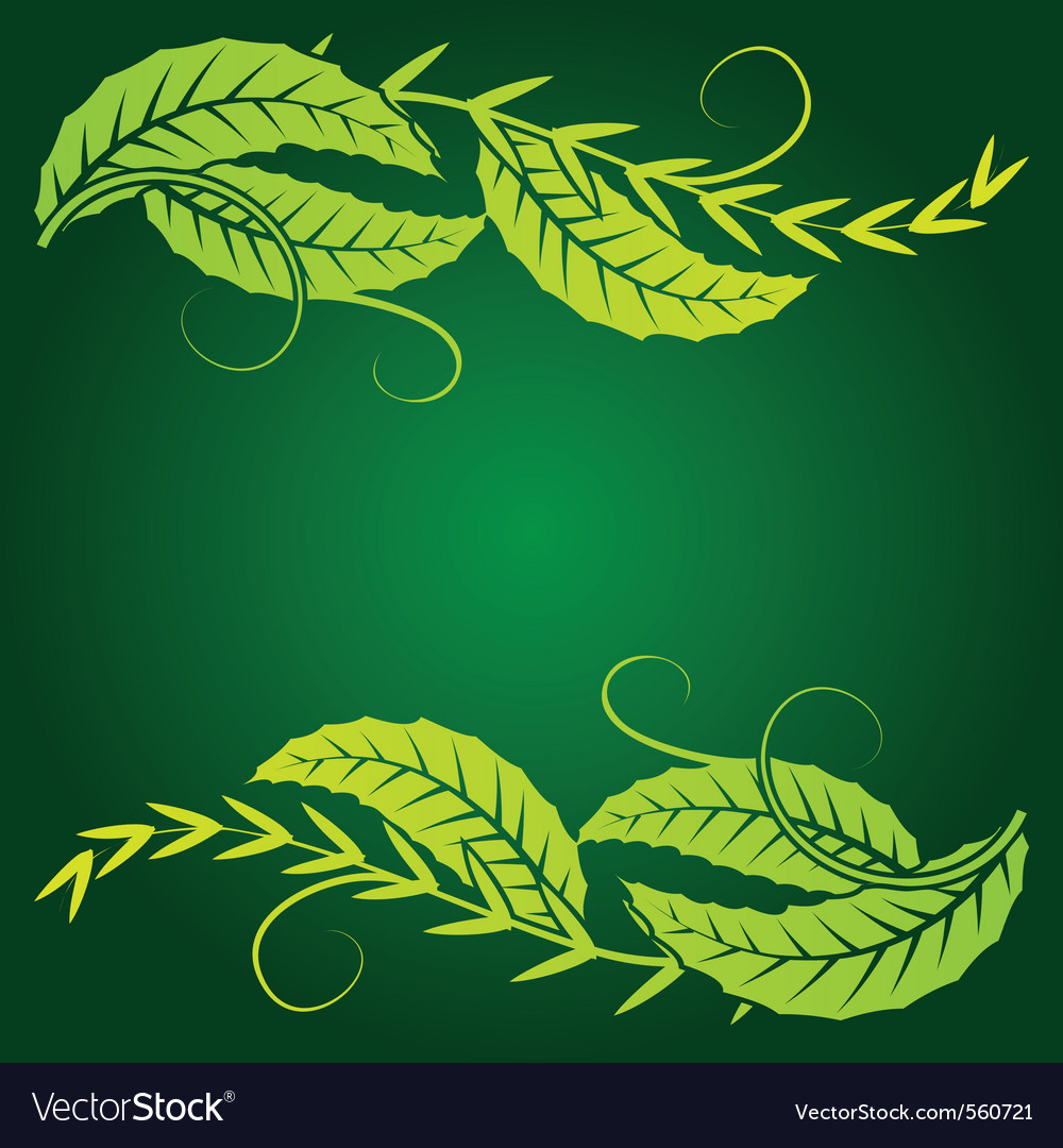 Foliage corner graphics vector | Price: 1 Credit (USD $1)
