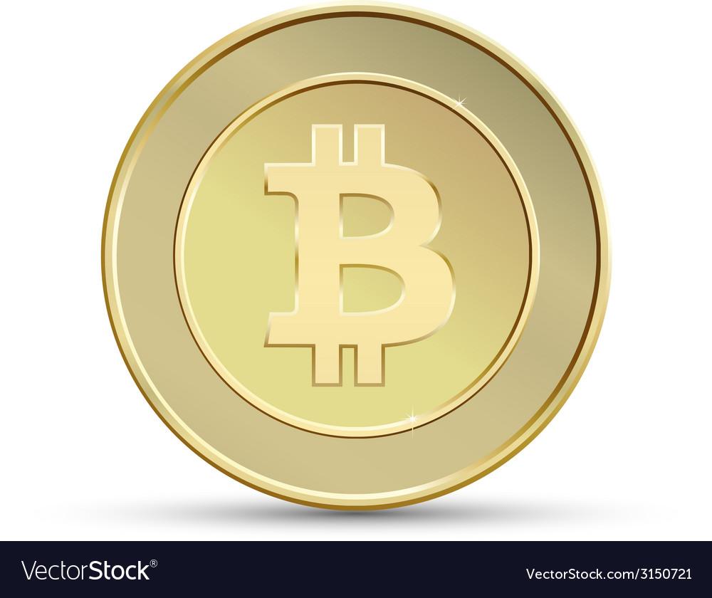 Golden bitcoin vector | Price: 1 Credit (USD $1)
