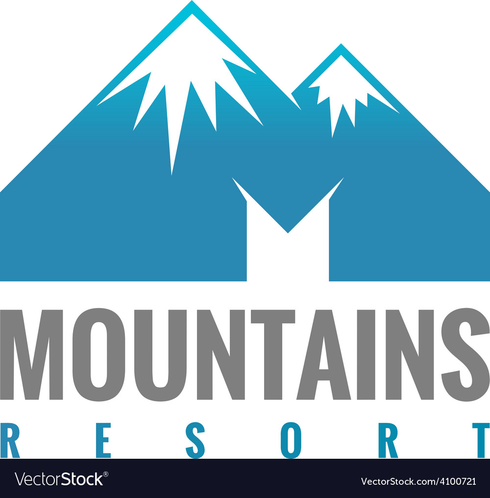 M letter mountains logo template vector | Price: 1 Credit (USD $1)