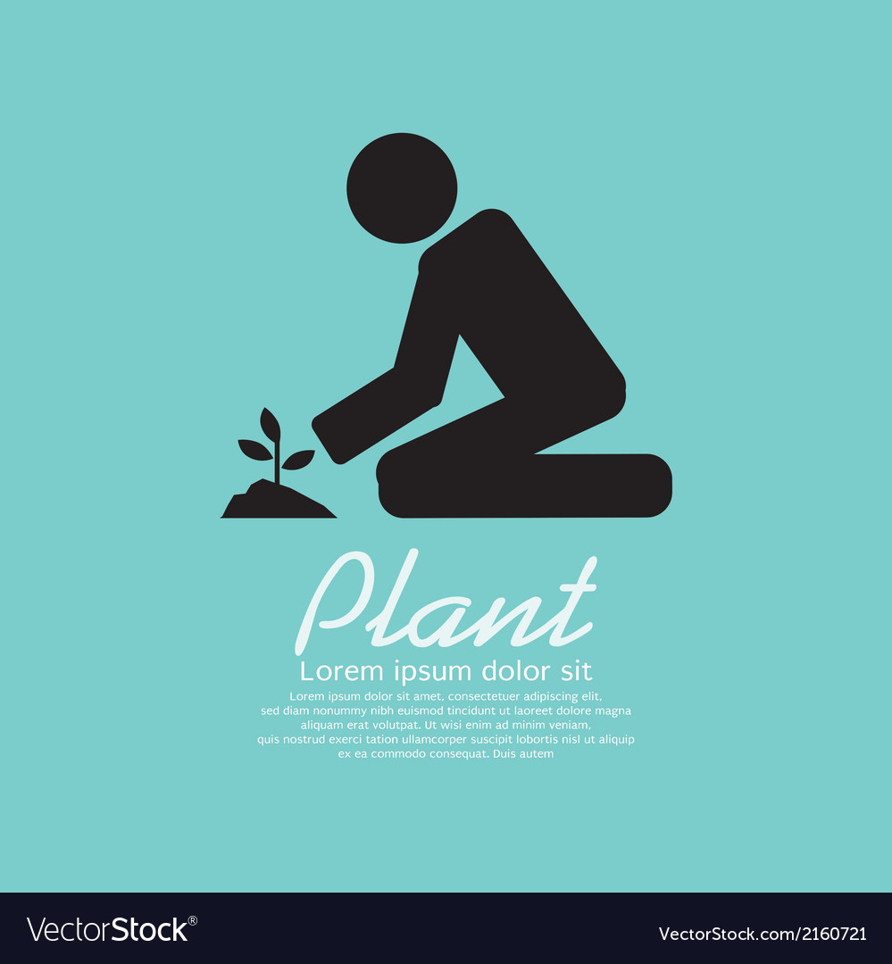 Planting vector | Price: 1 Credit (USD $1)