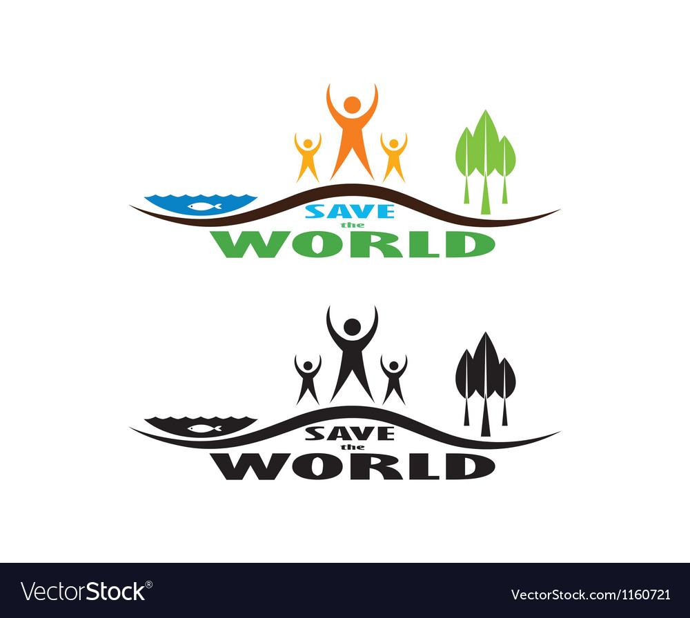 Save the world vector | Price: 1 Credit (USD $1)