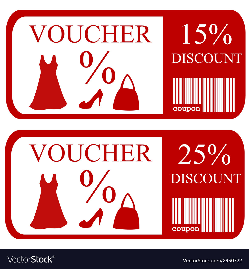 15 and 25 discount vouchers vector | Price: 1 Credit (USD $1)