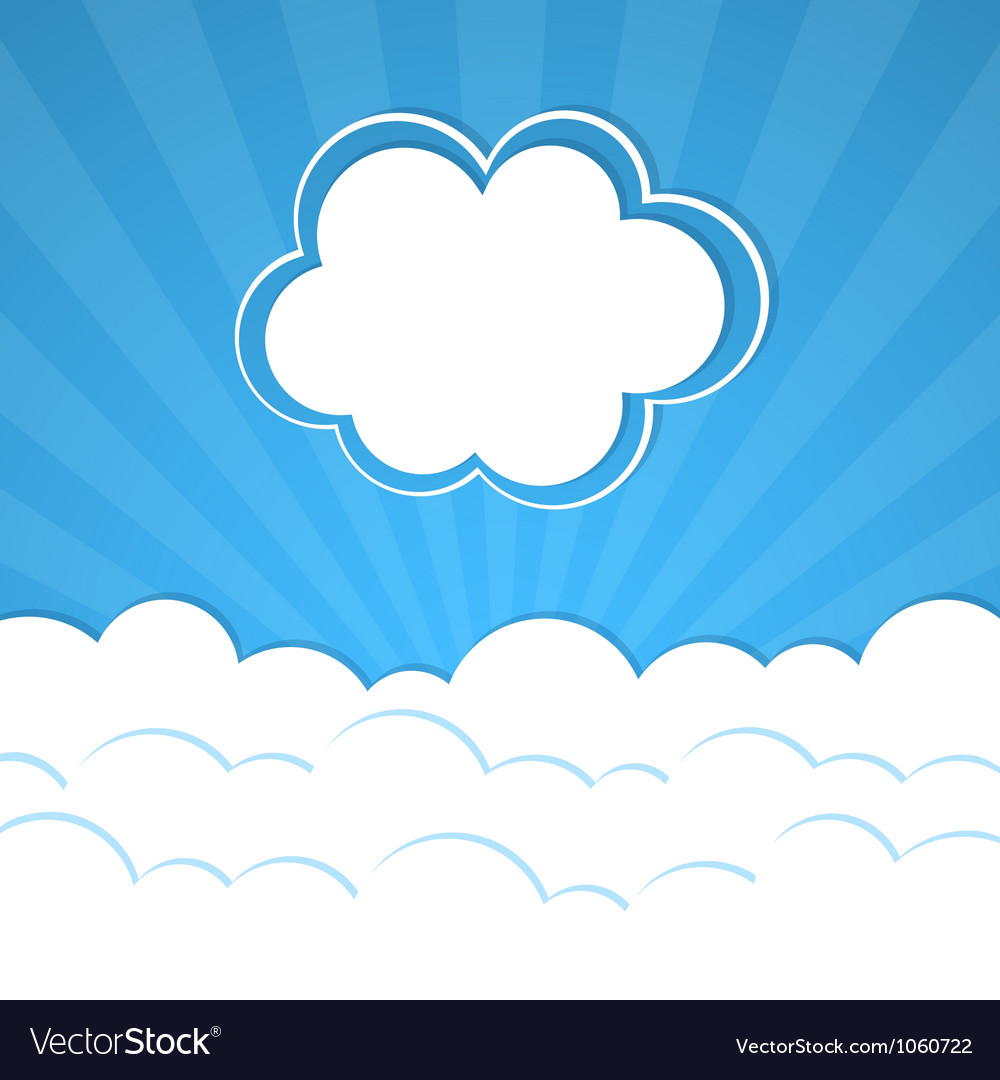 Abstract background with rays and clouds vector | Price: 1 Credit (USD $1)
