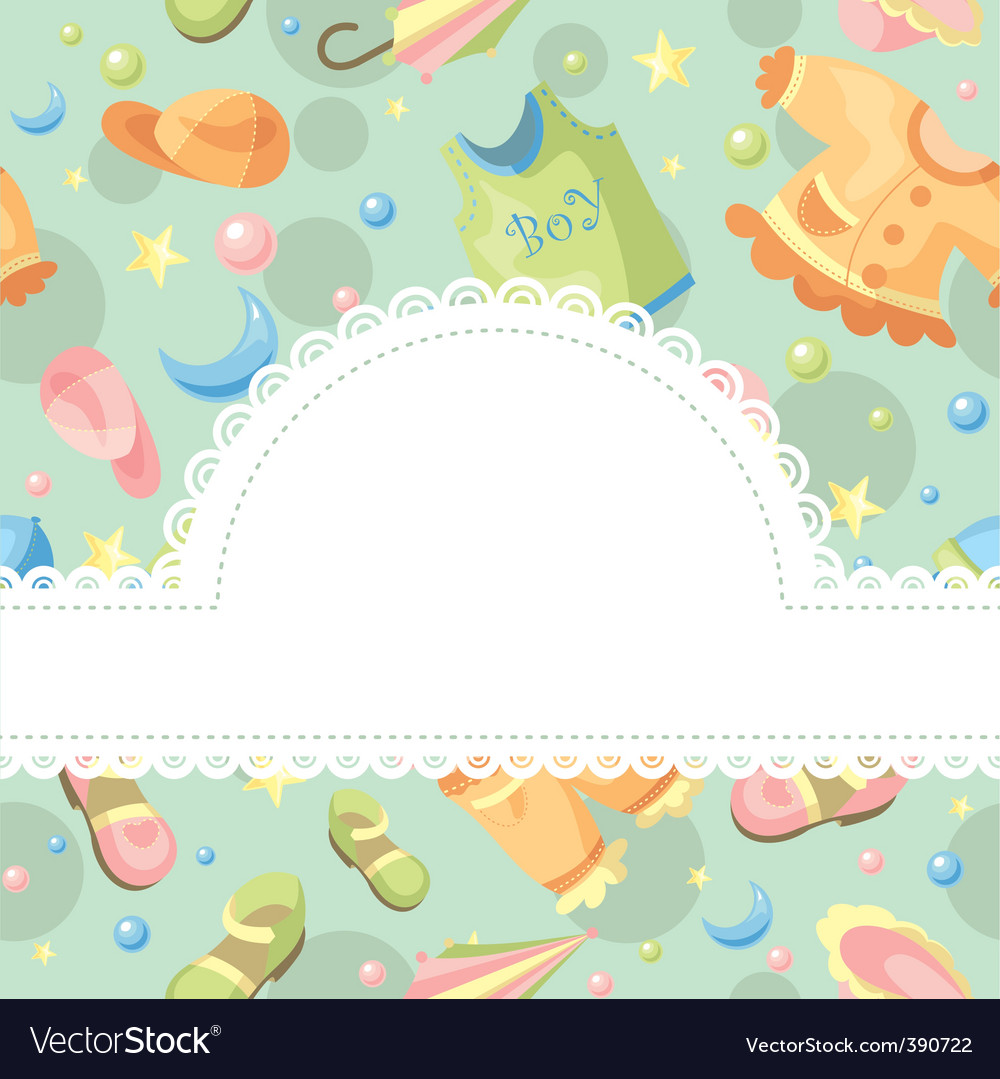 Baby background vector | Price: 1 Credit (USD $1)