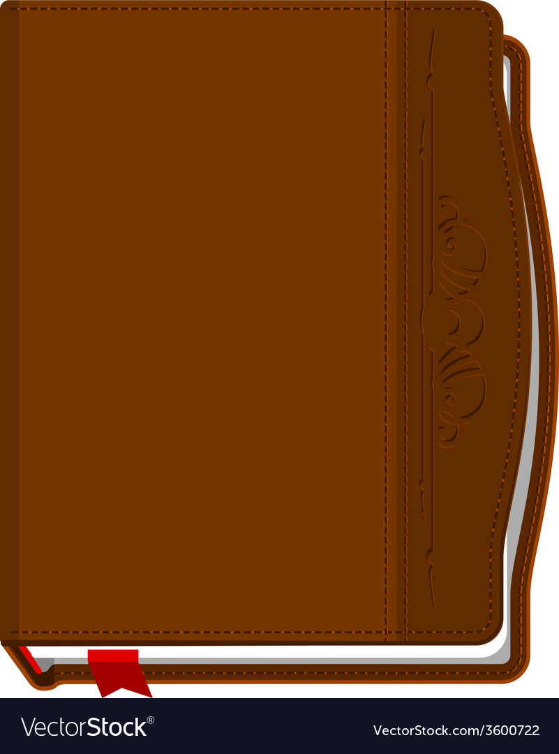 Brown closed the book with a red bookmark vector | Price: 1 Credit (USD $1)