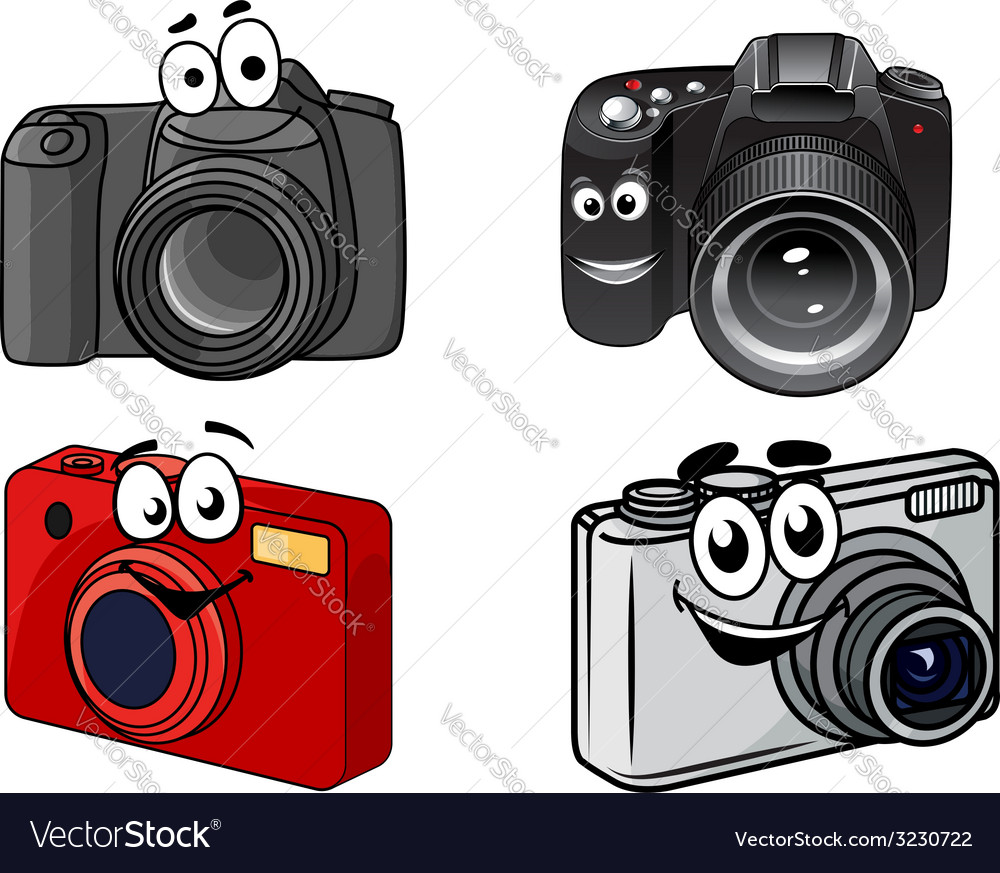 Cartoon digital cameras vector | Price: 1 Credit (USD $1)