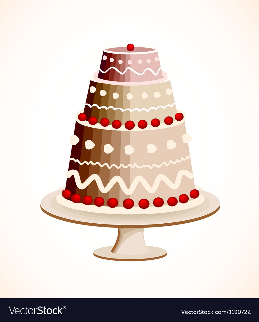 Chocolate cake with berry vector | Price: 1 Credit (USD $1)