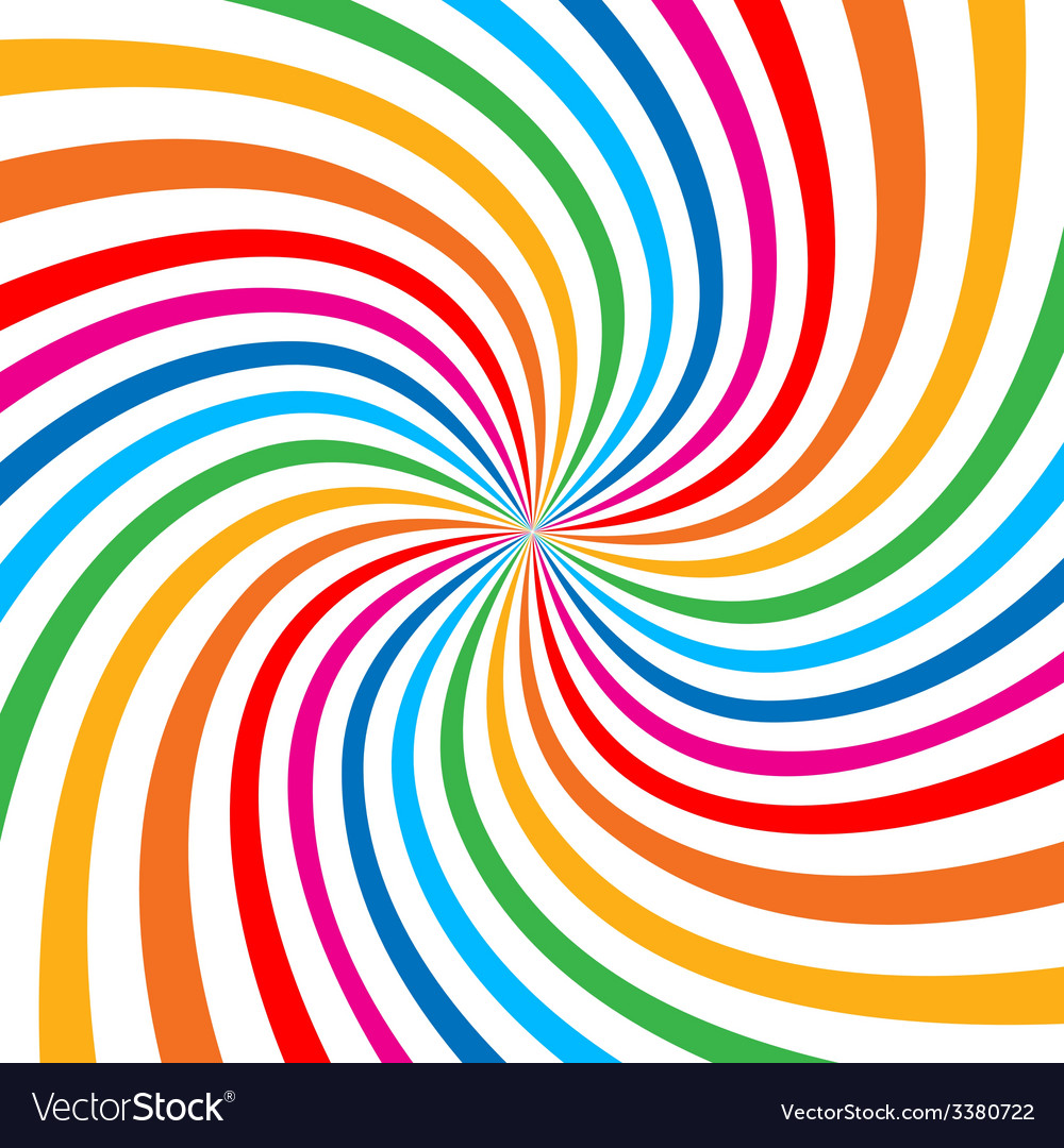 Colorful bright rainbow spiral background logo des vector | Price: 1 Credit (USD $1)