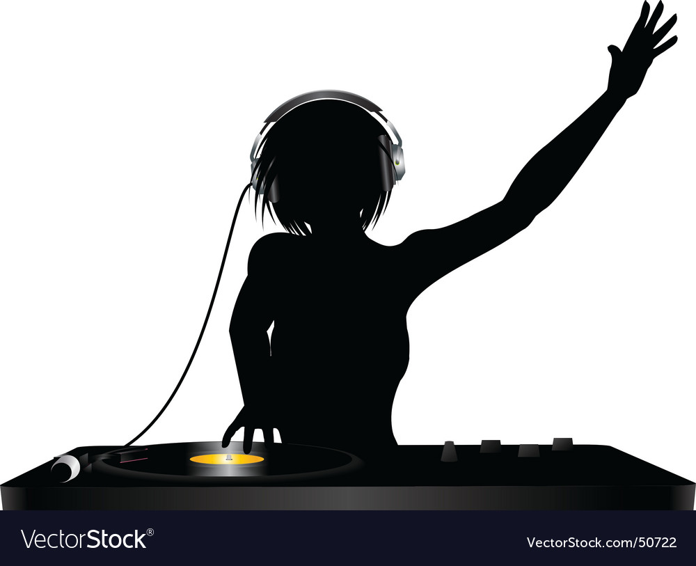 Dj silhouette vector | Price: 1 Credit (USD $1)