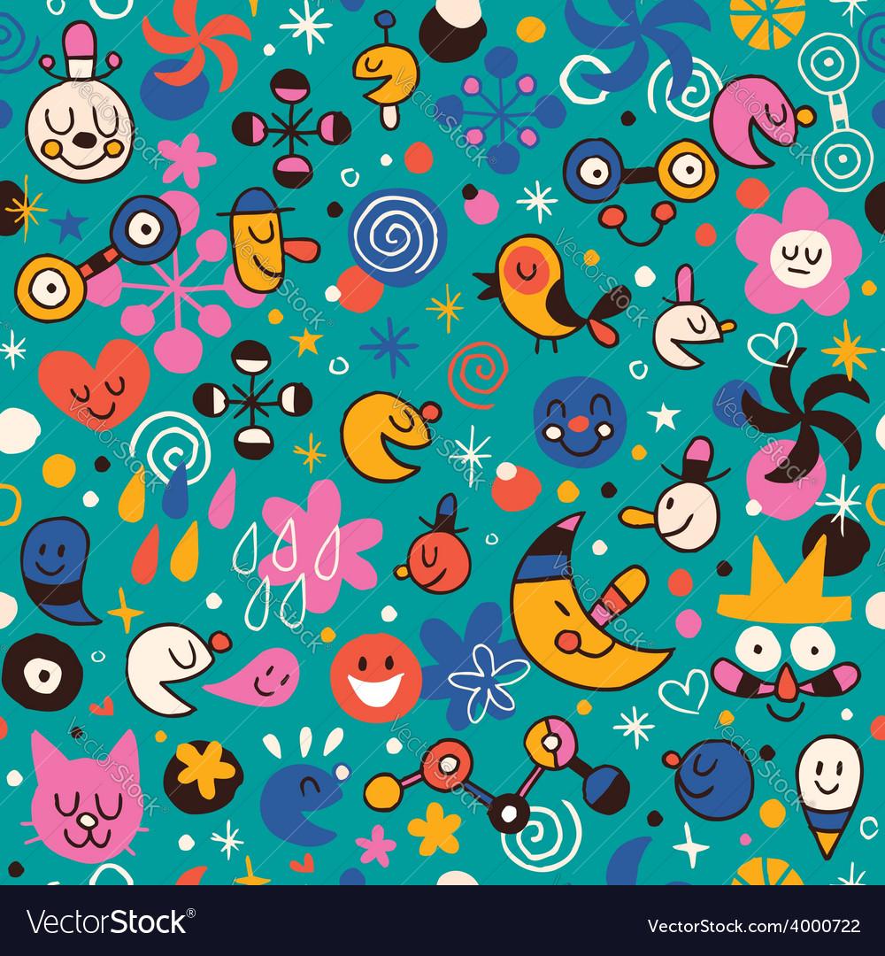 Fun cartoon pattern 6 vector   Price: 1 Credit (USD $1)