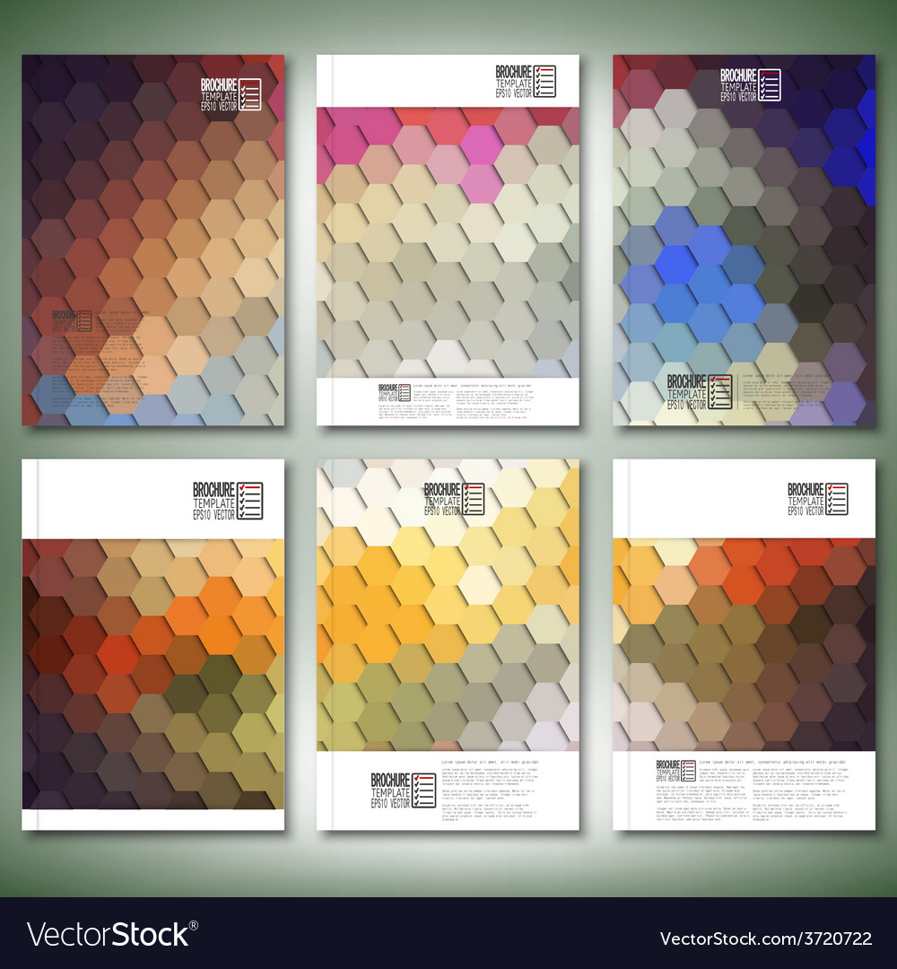 Geometric backgrounds abstract hexagonal patterns vector   Price: 1 Credit (USD $1)
