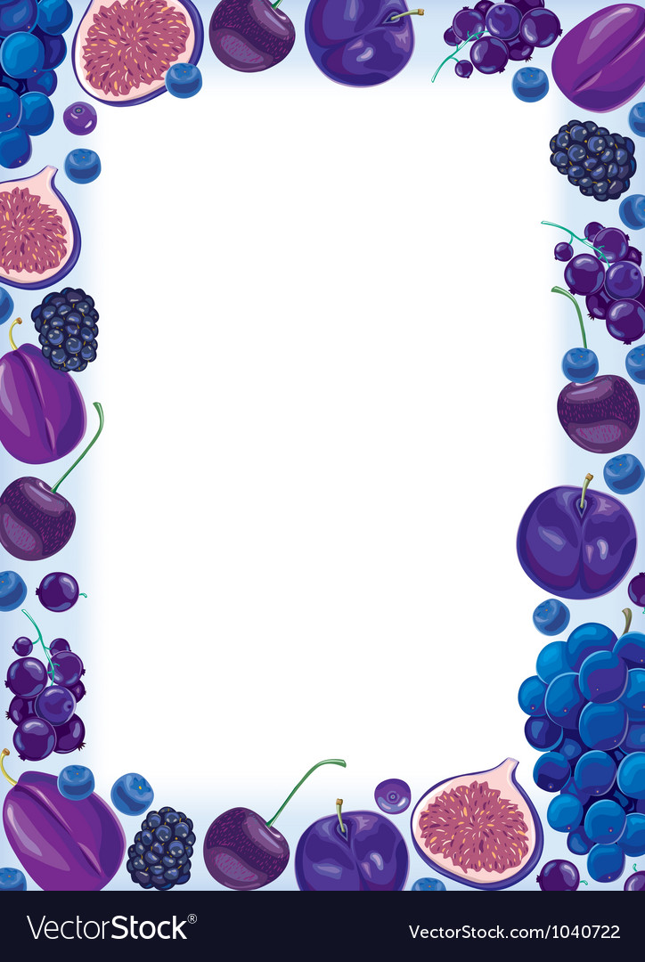Lilac fruit and berries frame vector | Price: 1 Credit (USD $1)