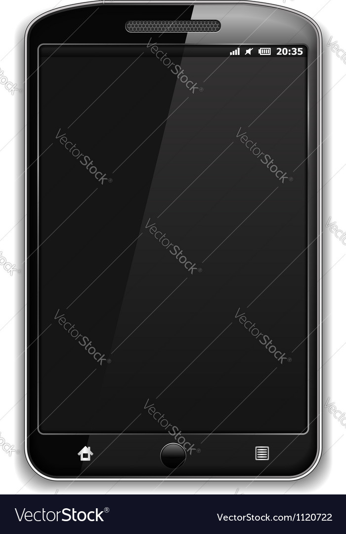Modern black smart phone vector | Price: 1 Credit (USD $1)