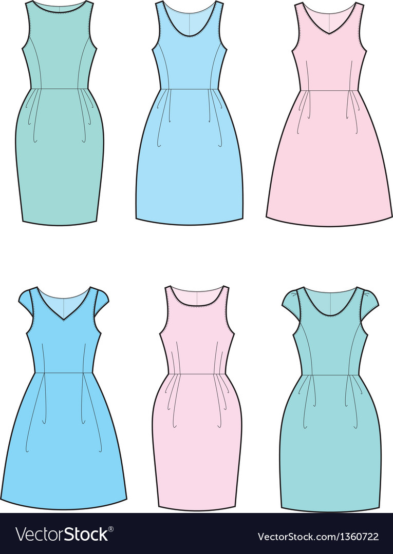 Romantic dresses vector | Price: 1 Credit (USD $1)