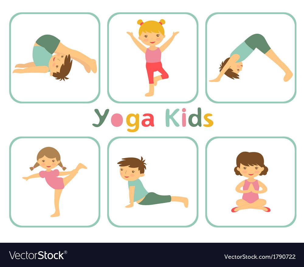 Yoga kids vector | Price: 1 Credit (USD $1)