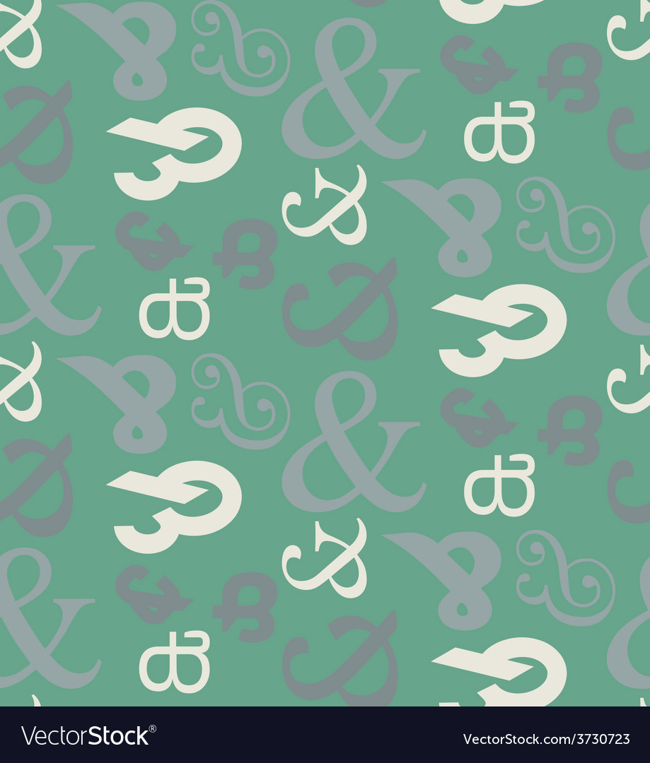 Ampersand seamless pattern vector | Price: 1 Credit (USD $1)