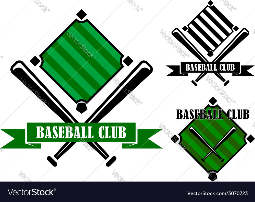 Baseball club emblems or badges vector | Price: 1 Credit (USD $1)
