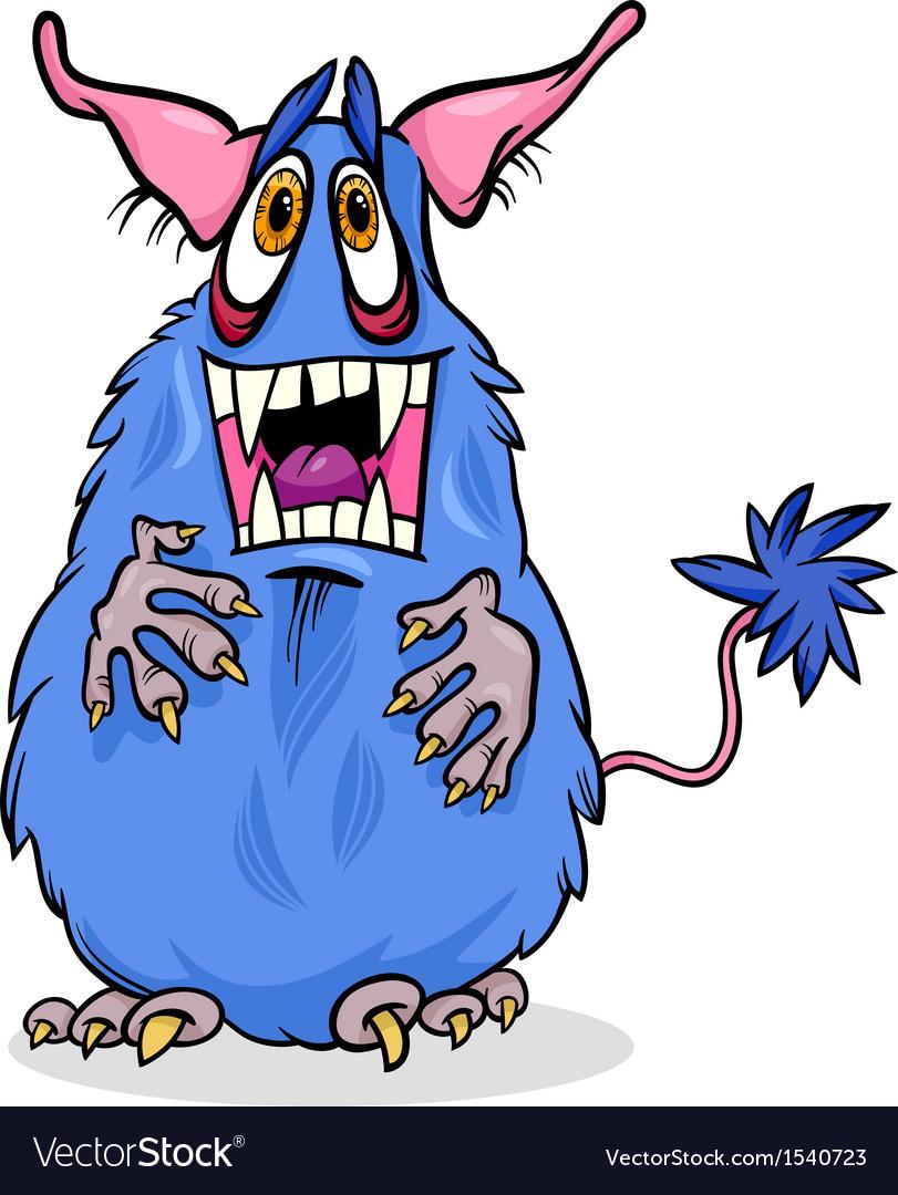 Cartoon funny monster vector | Price: 1 Credit (USD $1)