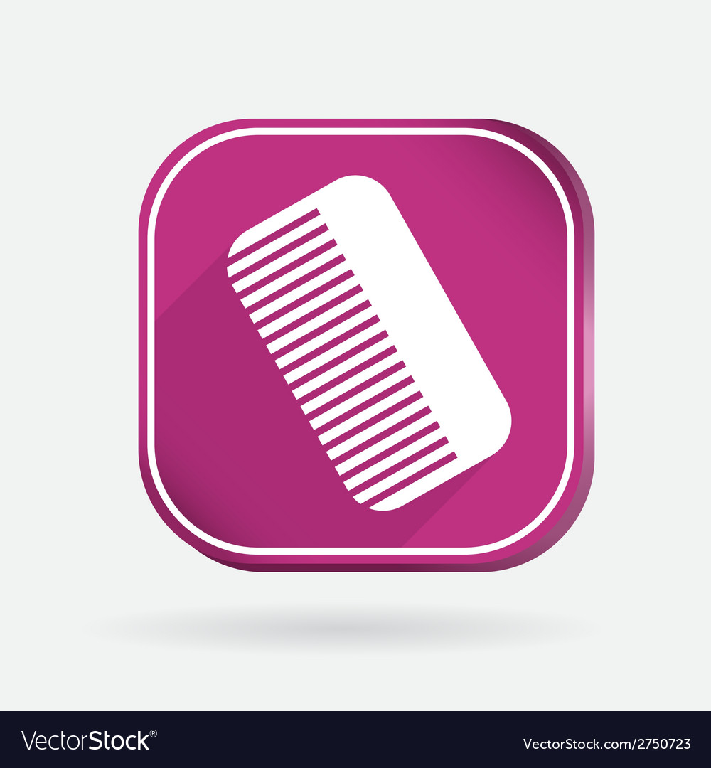 Comb barbershop color square icon vector | Price: 1 Credit (USD $1)
