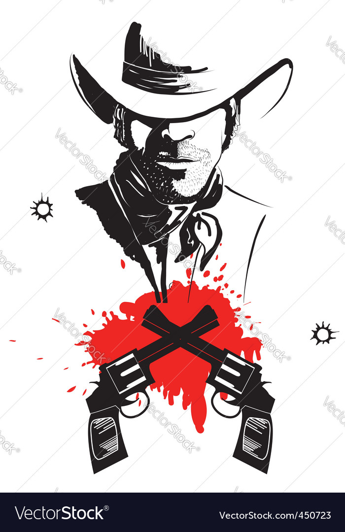 Cowboy vector | Price: 1 Credit (USD $1)