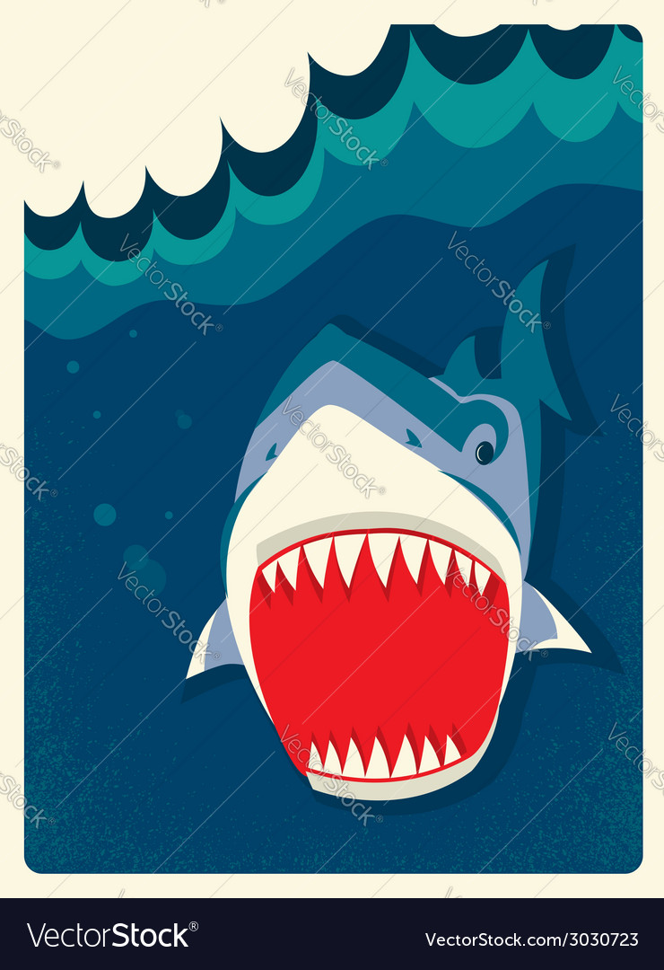 Danger shark vector | Price: 1 Credit (USD $1)