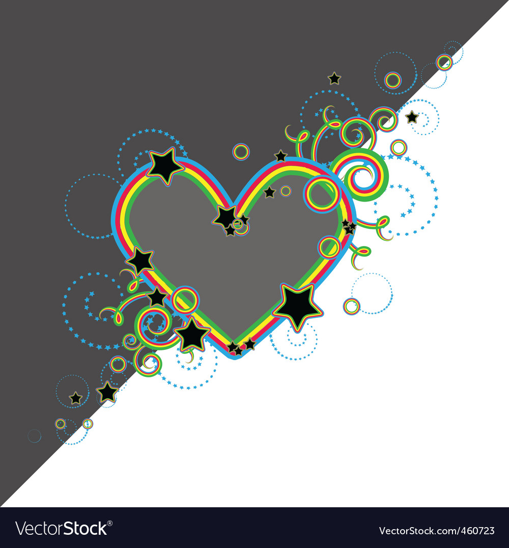 Heart with stars vector | Price: 1 Credit (USD $1)