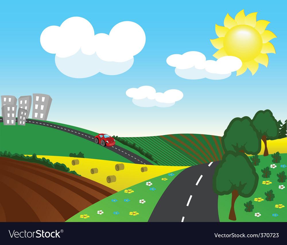 Motorway vector | Price: 1 Credit (USD $1)