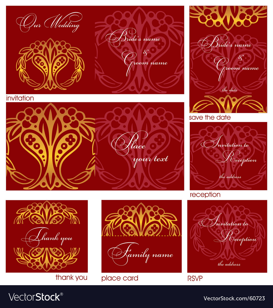 Reception cards vector | Price: 1 Credit (USD $1)
