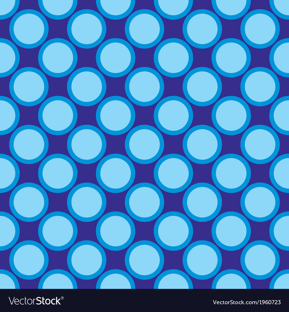 Seamless pattern blue polka dots navy background vector | Price: 1 Credit (USD $1)