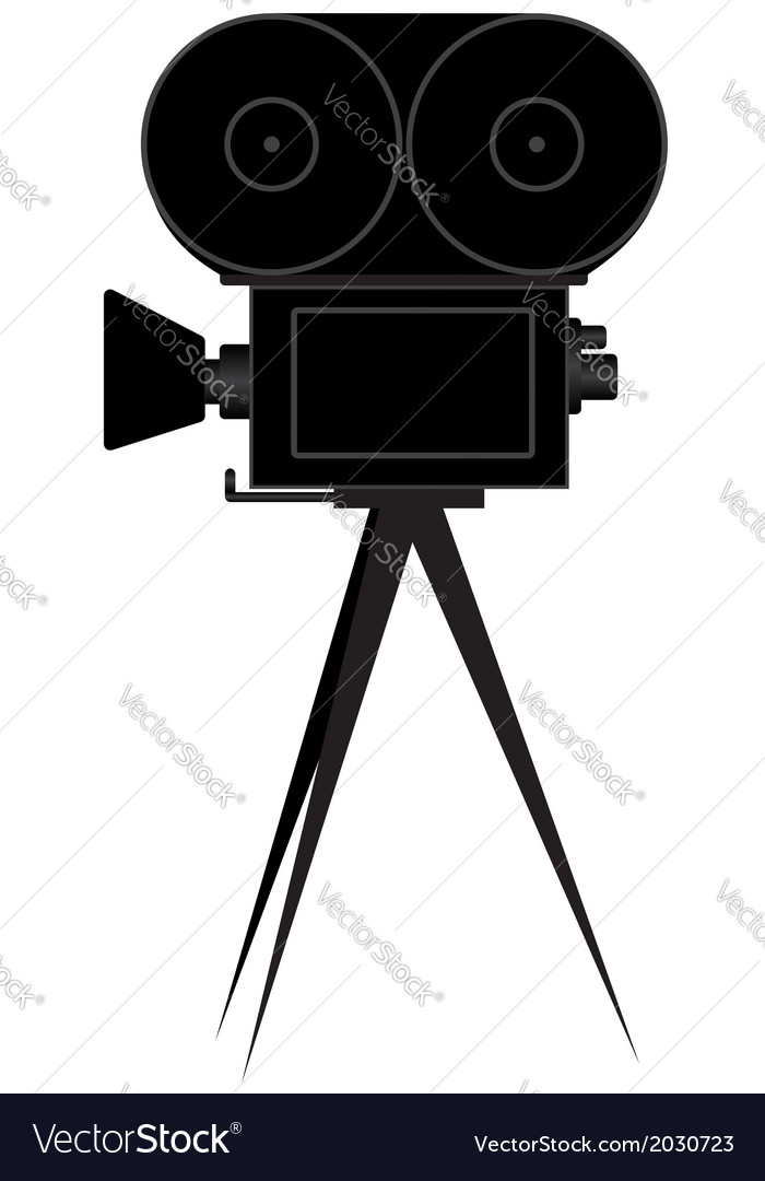 Silhouette of movie camera vector | Price: 1 Credit (USD $1)