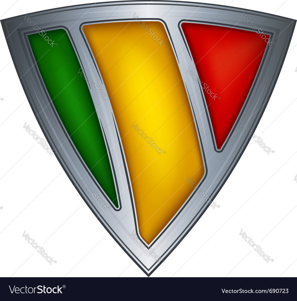 Steel shield with flag mali vector | Price: 1 Credit (USD $1)