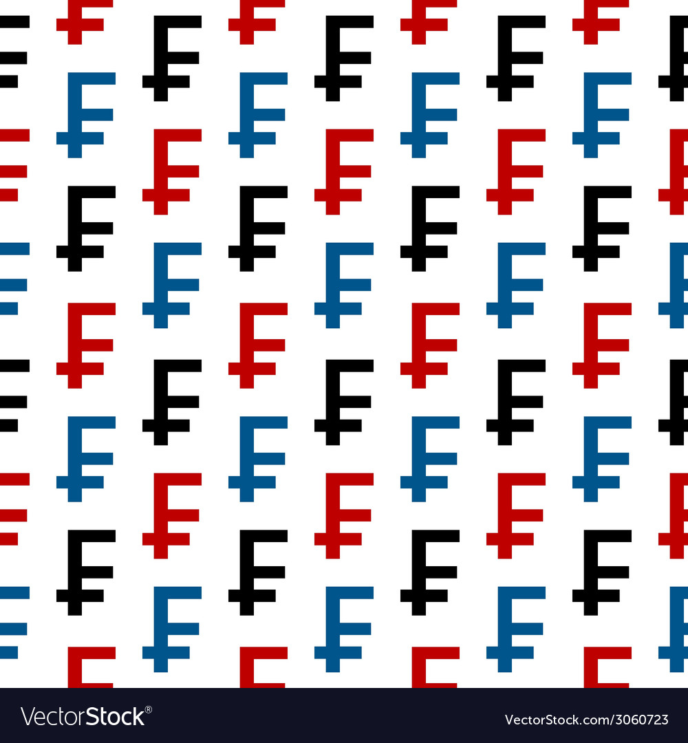 Swiss franc symbol seamless pattern vector | Price: 1 Credit (USD $1)