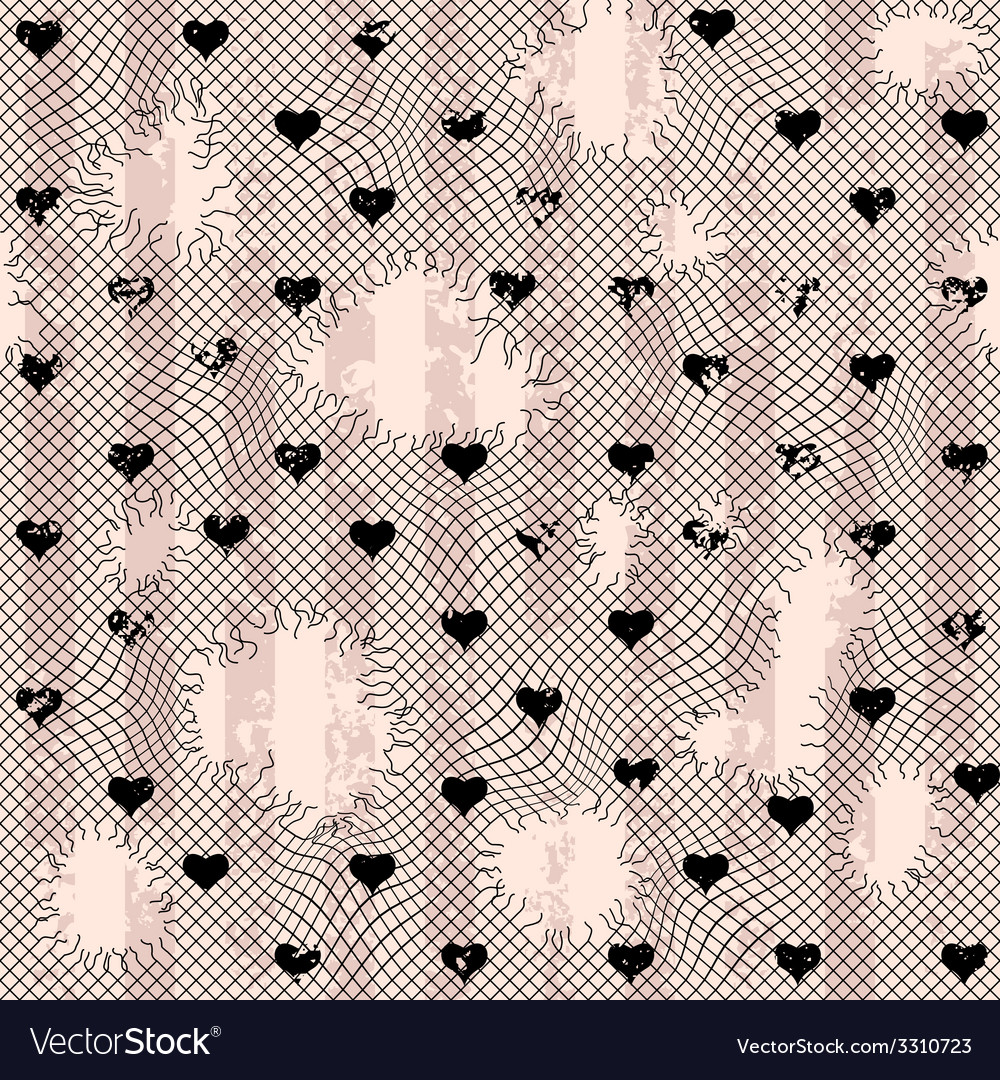Torn lace with hearts vector | Price: 1 Credit (USD $1)