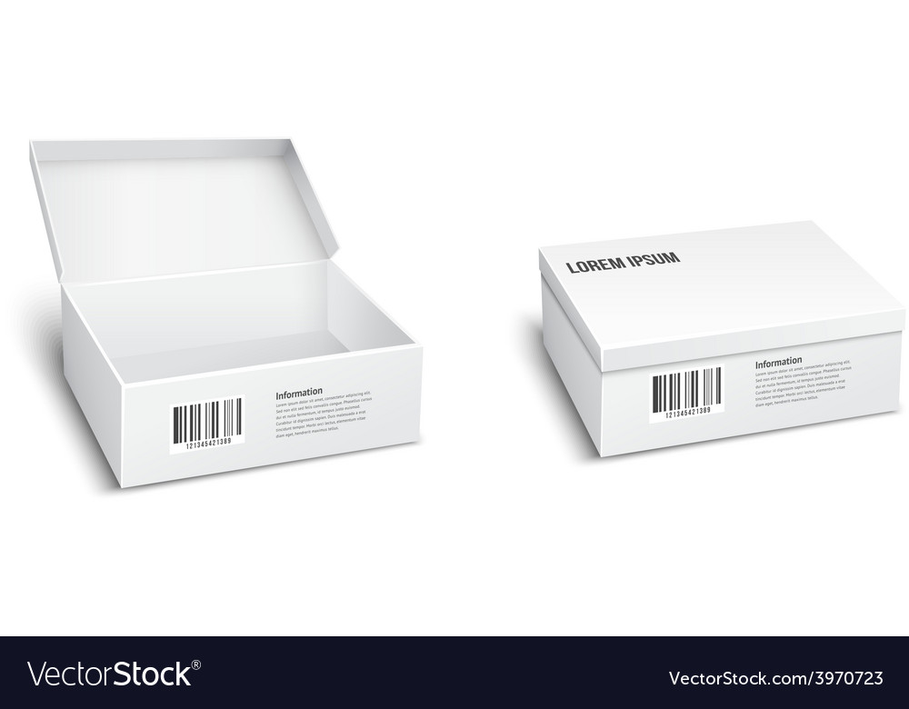 Two white packages or boxes vector | Price: 1 Credit (USD $1)