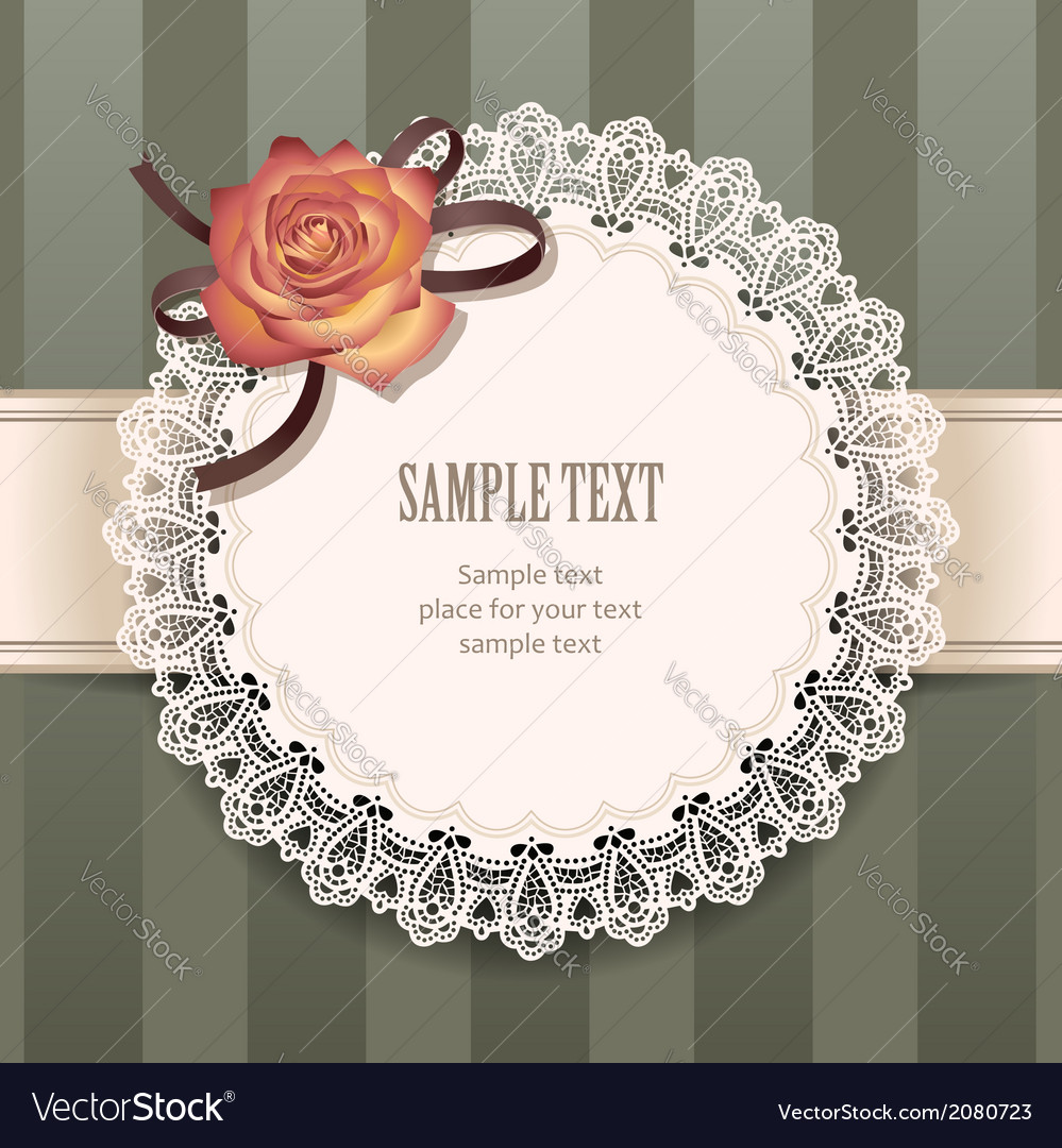 Vintage rose round vector | Price: 1 Credit (USD $1)