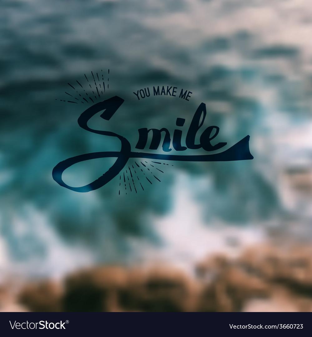 You make me smile vector   Price: 1 Credit (USD $1)