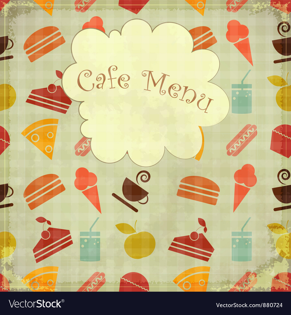 Cafe card retro menu vector | Price: 1 Credit (USD $1)