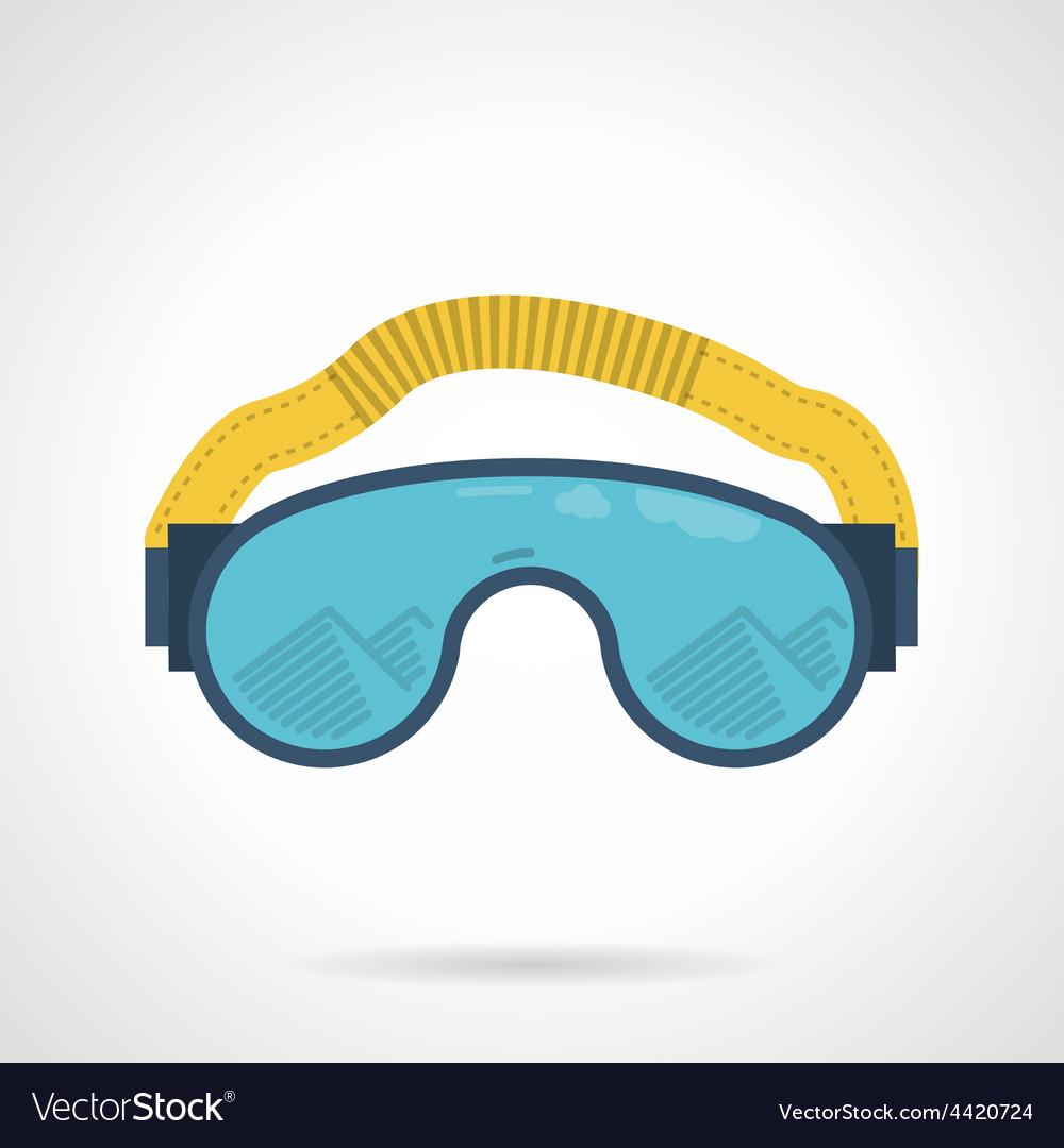 Climbing goggles color icon vector | Price: 1 Credit (USD $1)