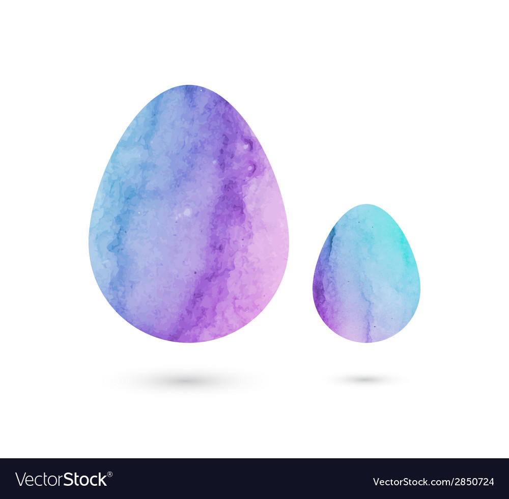 Easter eggs of watercolor texture vector | Price: 1 Credit (USD $1)
