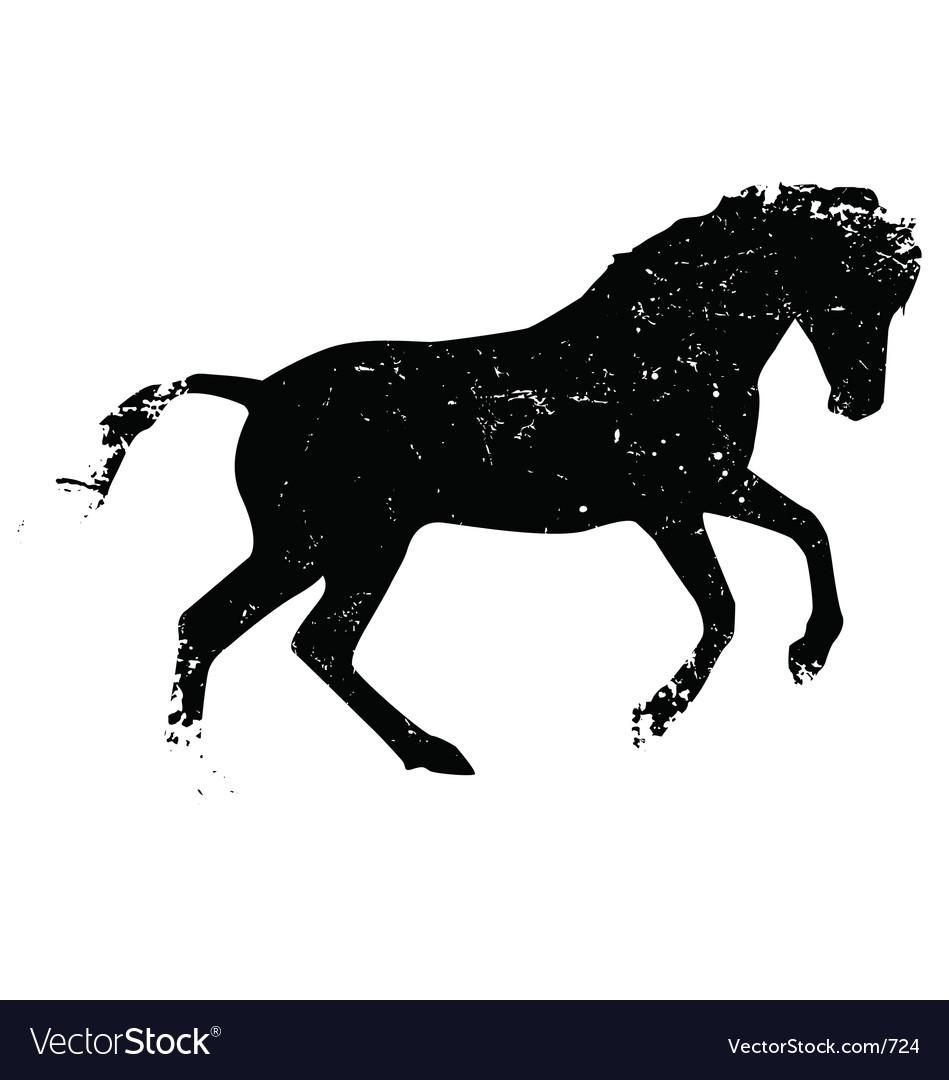 Grunge horse vector | Price: 1 Credit (USD $1)