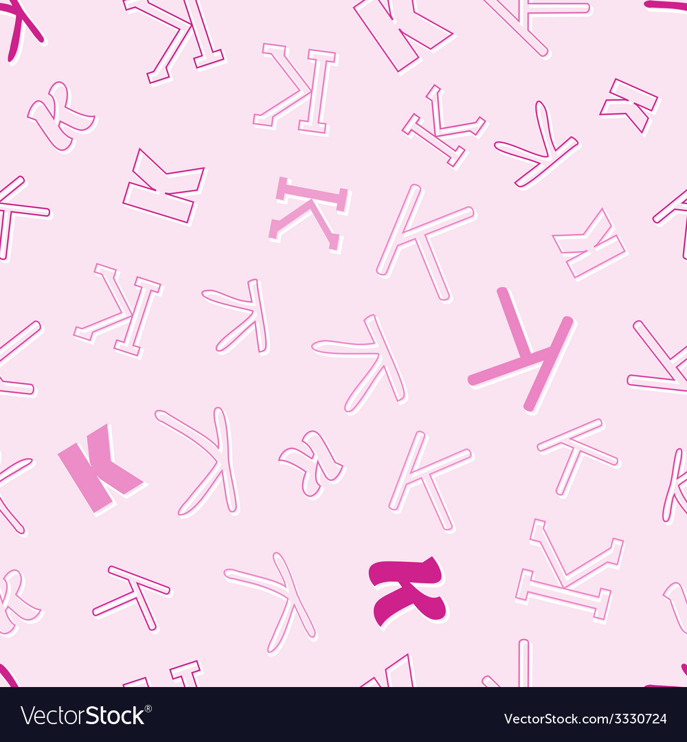 Seamless pattern with character k vector | Price: 1 Credit (USD $1)