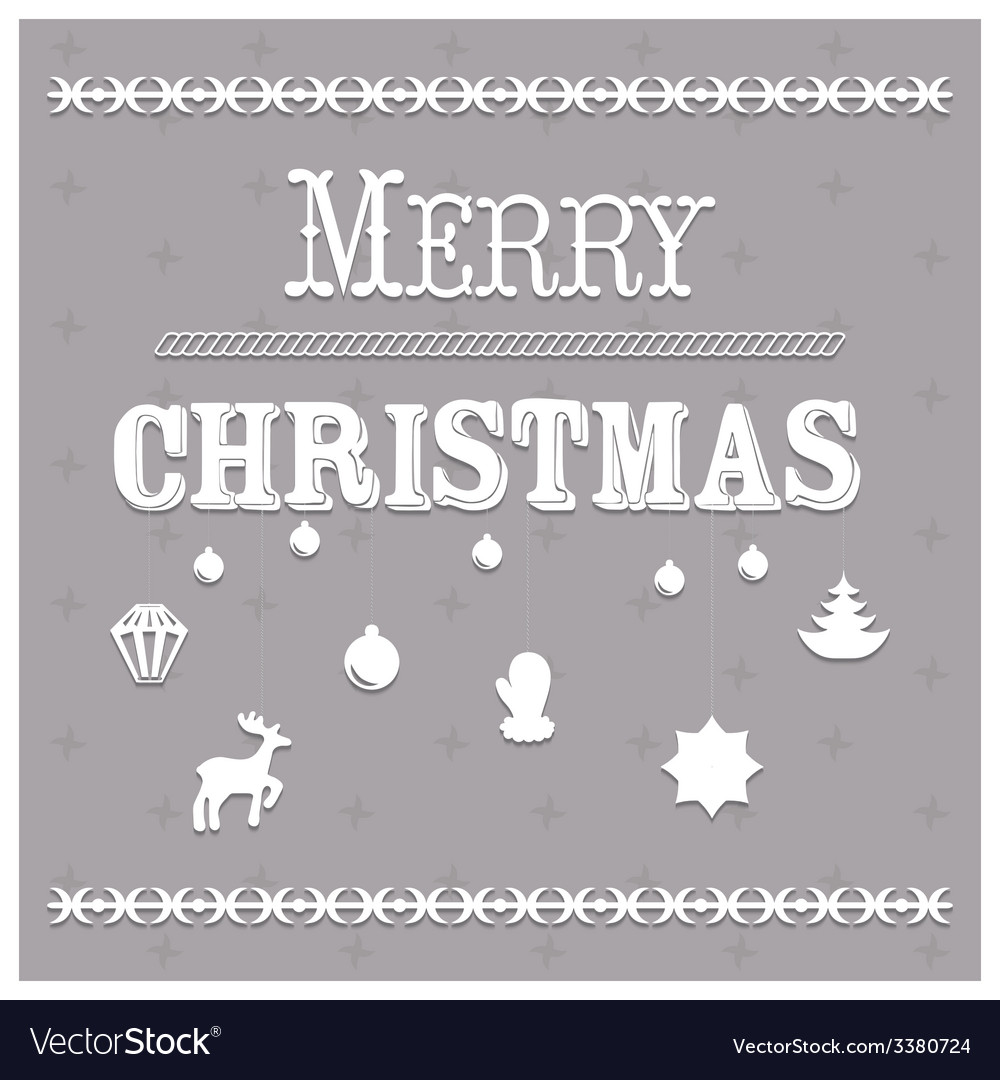 Typographic christmas text and design vector | Price: 1 Credit (USD $1)