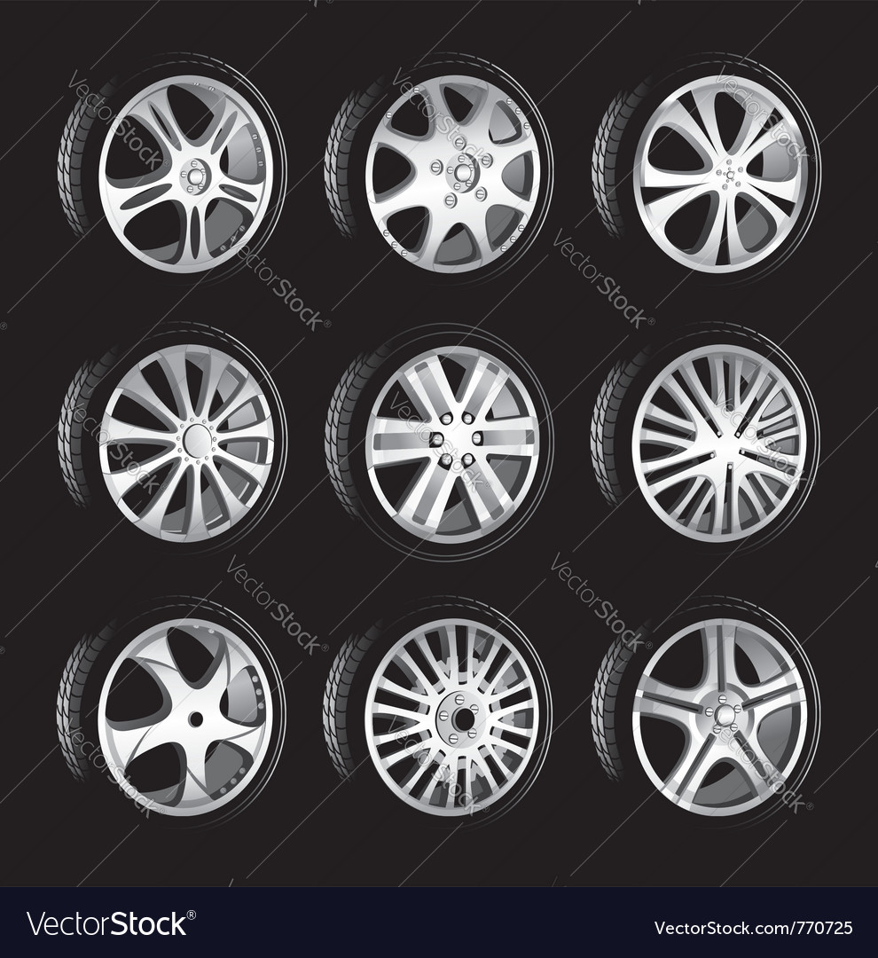 Automotive wheel vector | Price: 1 Credit (USD $1)
