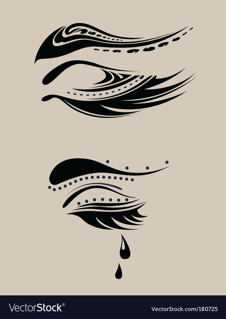 Beauty eyelashes vector