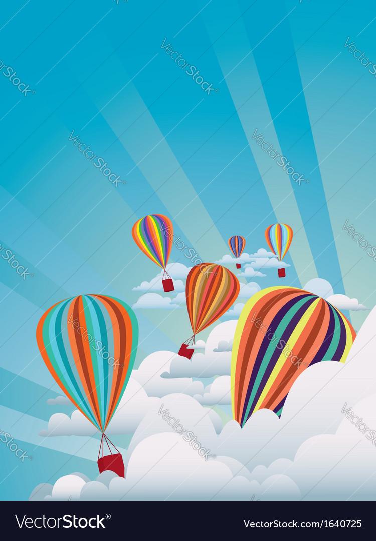Colorful hot air balloons2 vector