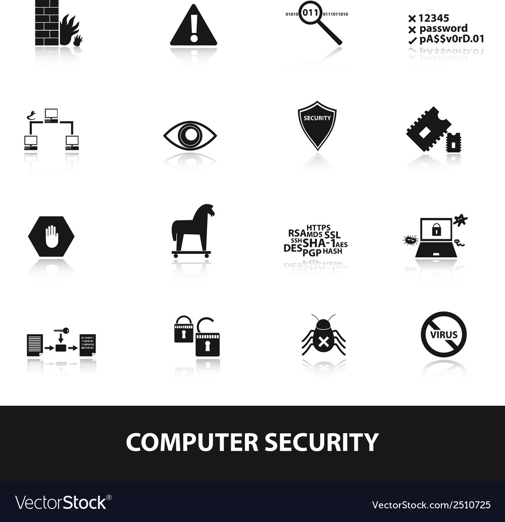 Computer security icons eps10 vector | Price: 1 Credit (USD $1)