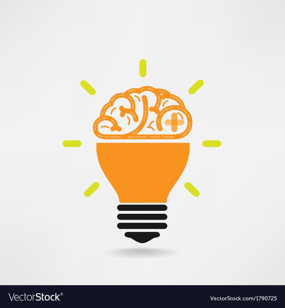 Creative brain idea concept vector | Price: 1 Credit (USD $1)
