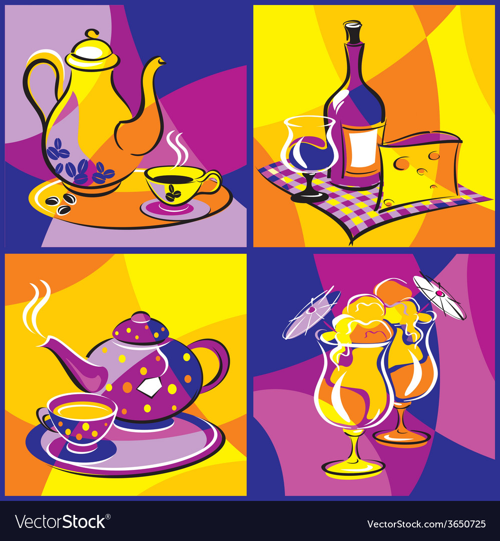 Drink beverage bright vector | Price: 1 Credit (USD $1)