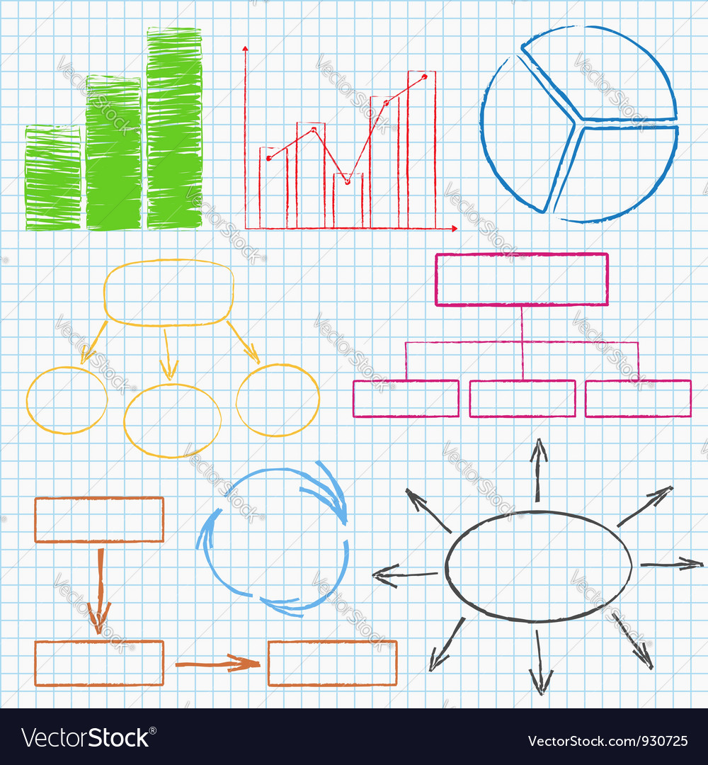 Graphs and diagrams on squared paper vector | Price: 1 Credit (USD $1)