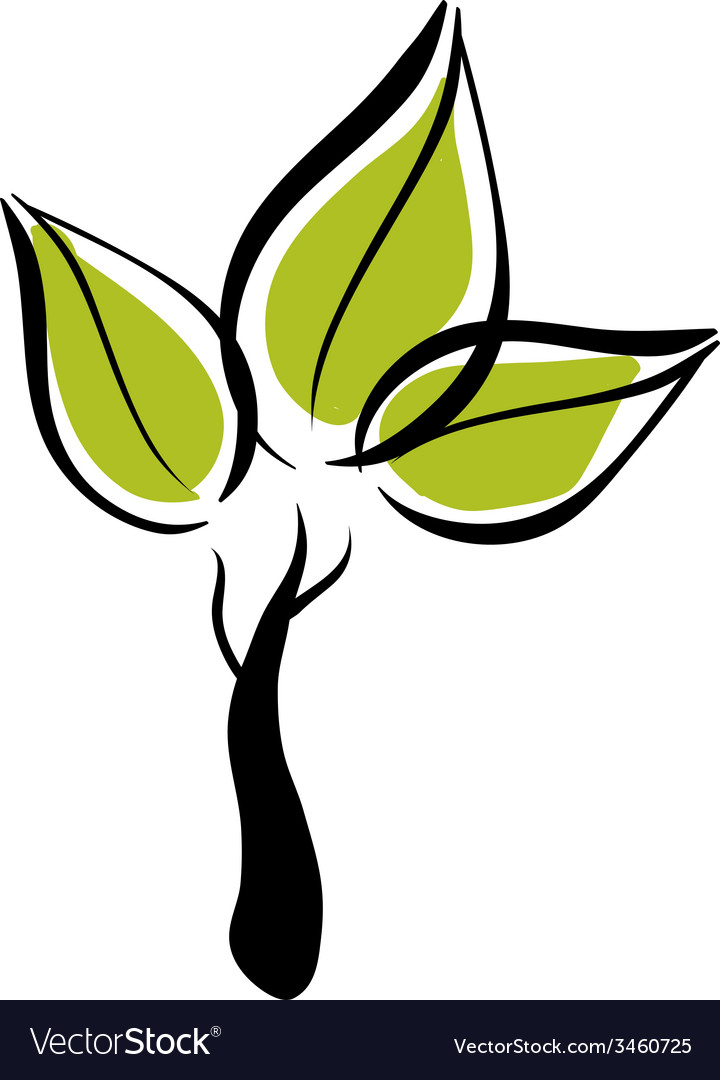 Green eco tree icon vector | Price: 1 Credit (USD $1)